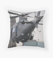 Navy Chopper Throw Pillow