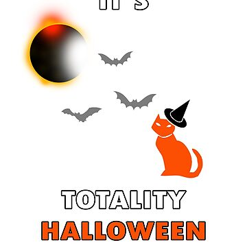 it's totality halloween cat with bats by SimiRaghavan