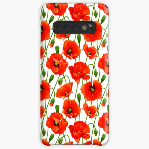 Beautiful Red Poppy Flowers Samsung Galaxy Snap Case
