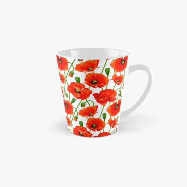 Beautiful Red Poppy Flowers Tall Mug