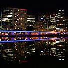 Melbourne at night. by John Dalkin