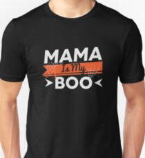 Mama Is My Boo Mom Mommy Ghost Spider Web Halloween  T-Shirt