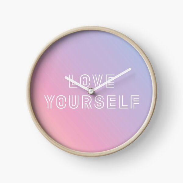 BTS LOVE YOURSELF PASTEL Clock