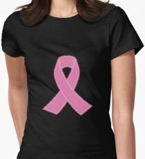 Breast Cancer Ribbon Stitched T-Shirt