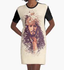Pirates of the Caribbean, Jack Sparrow splatter Graphic T-Shirt Dress