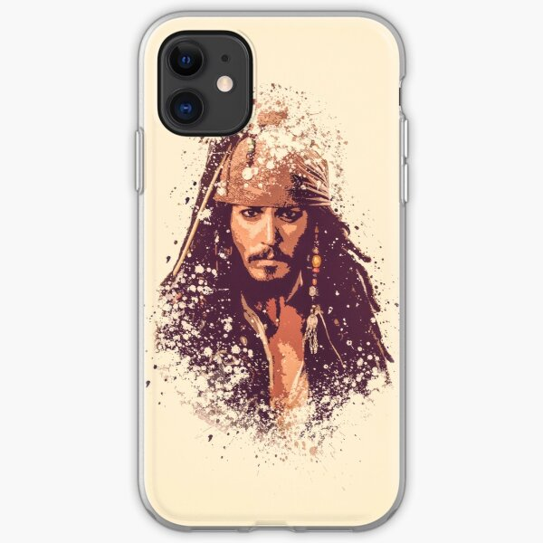 Pirates of the Caribbean, Jack Sparrow splatter iPhone Soft Case