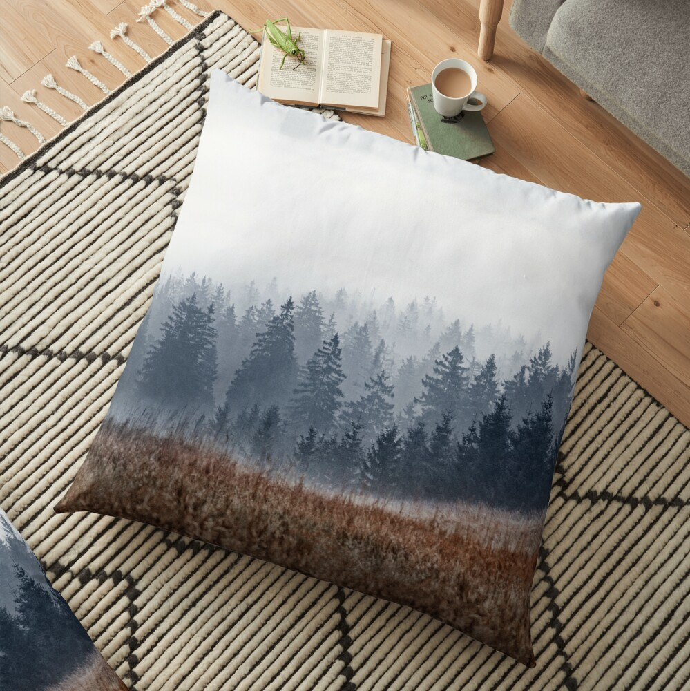 Lost In Fog Floor Pillow