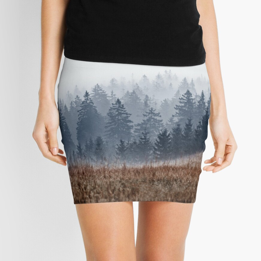 Lost In Fog Mini Skirt