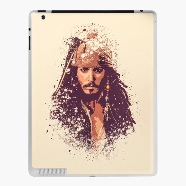 Pirates of the Caribbean, Jack Sparrow splatter iPad Skin
