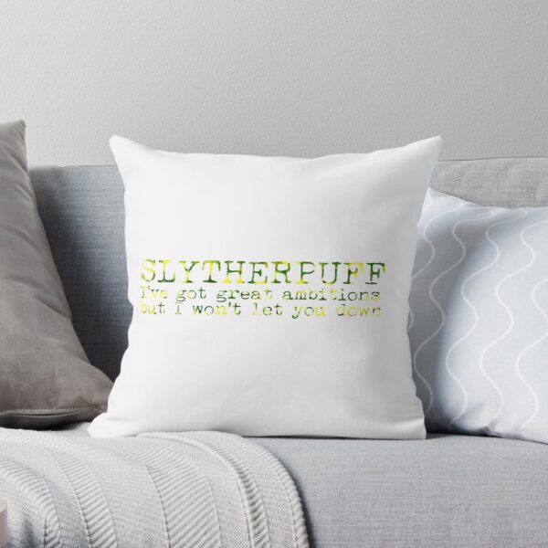 Slytherpuff Quote Throw Pillow