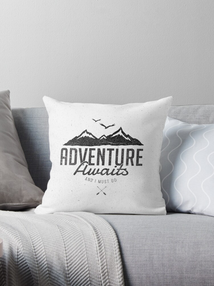 Quot Adventure Awaits Quot Throw Pillows By Magdalena Mikos