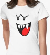 Boo Face Women's Fitted T-Shirt