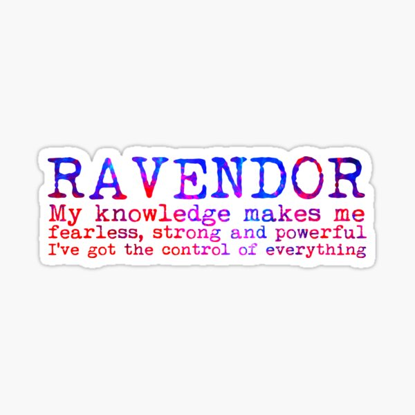 Ravendor Quote Sticker