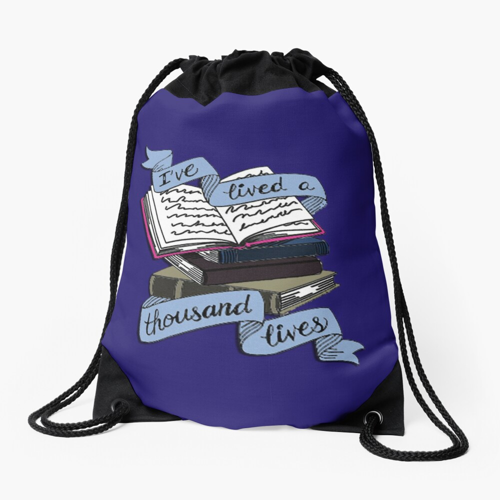 Books  Drawstring Bag
