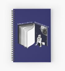 traveling with books Spiral Notebook
