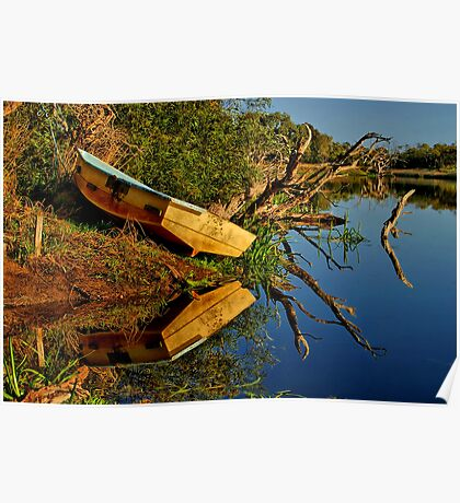 """""""Creekside Reflections"""" Poster"""