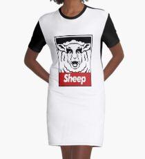 sheep red Graphic T-Shirt Dress