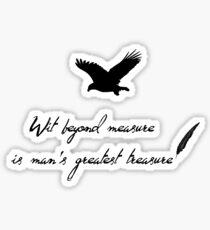 wit beyond measure Sticker