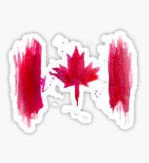 Watercolor flag of Canada Sticker