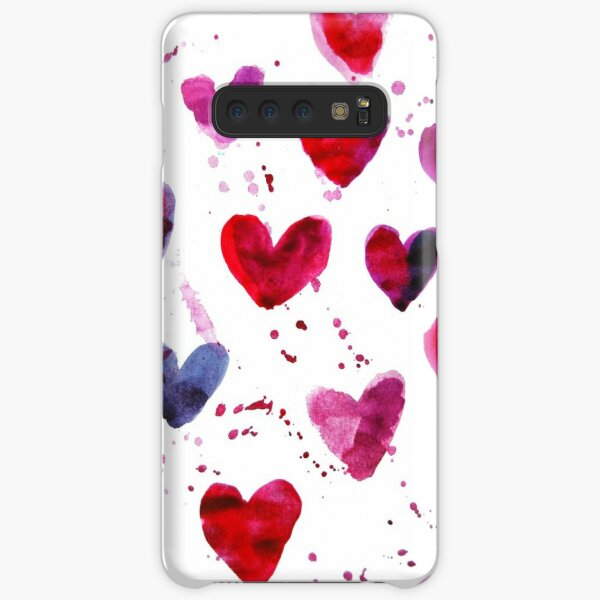 Hearts in Watercolour Samsung Galaxy Snap Case