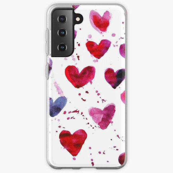 Hearts in Watercolour Samsung Galaxy Soft Case