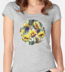 Sunflowers Forever Women's Fitted Scoop T-Shirt