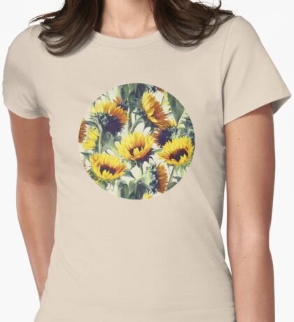 Sunflowers Forever Womens Fitted T-Shirt
