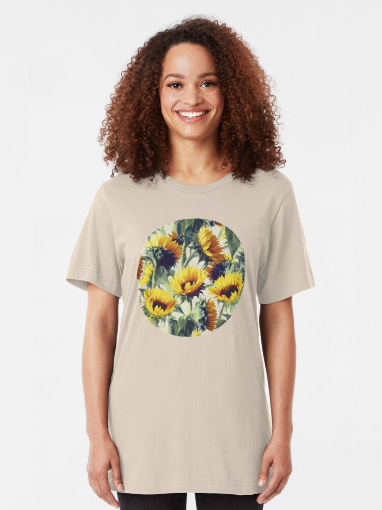 Alternate view of Sunflowers Forever Slim Fit T-Shirt