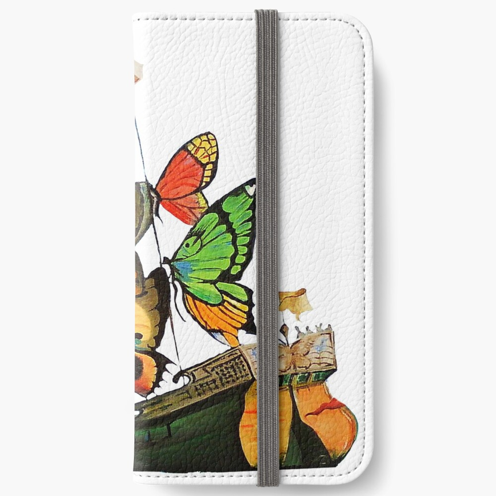 Salvador Dali Ship with Butterfly Sails iPhone Wallet