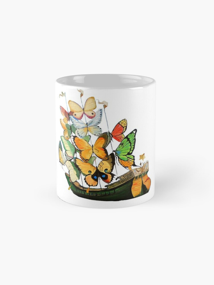 Alternate view of Salvador Dali Ship with Butterfly Sails Mug
