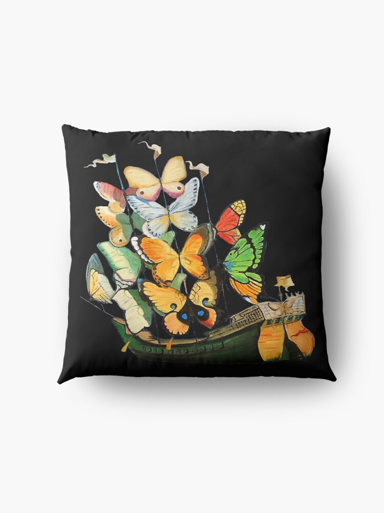 Alternate view of Salvador Dali Ship with Butterfly Sails Floor Pillow