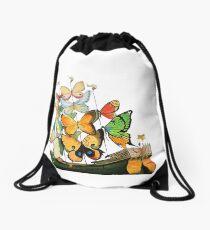 Salvador Dali Ship with Butterfly Sails Drawstring Bag