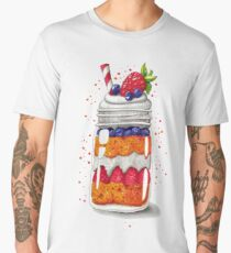 Strawberry and Blueberry shortcake in a jar Men's Premium T-Shirt