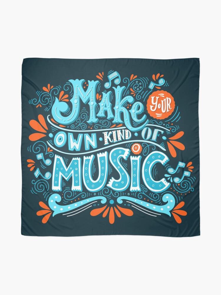 Alternative Ansicht von Mach deine eigene Art von Musik Tuch