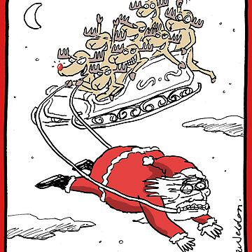 Santa Pulling the Sleigh by aweldon