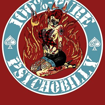 Psychobilly Girl - blue by SquareDog