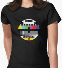 TV Test Card Womens Fitted T-Shirt