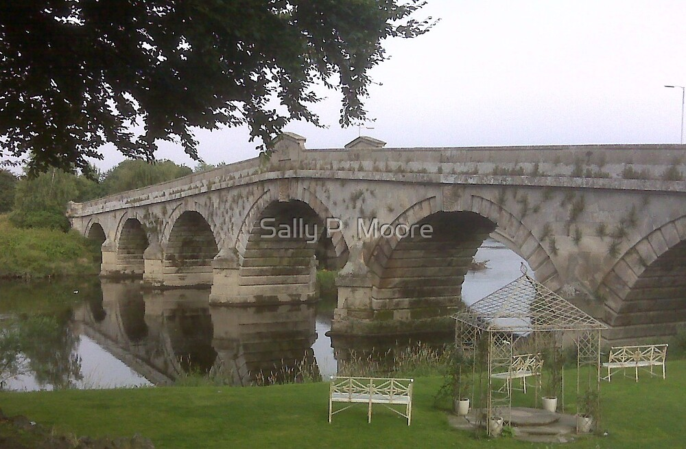 Bridge at the Mytton and Mermaid by Sally P  Moore