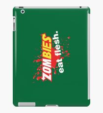 Zombies Eat Flesh Blood Variant iPad Case/Skin