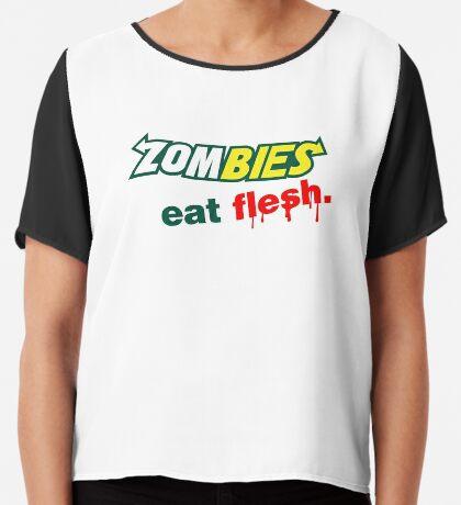 Zombies essen Fleisch Chiffontop