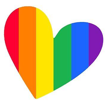 Rainbow Heart by brett66