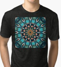 Abstract Turquoise Mandala Tri-blend T-Shirt