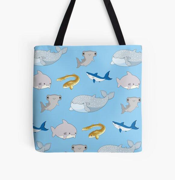 Sharks  All Over Print Tote Bag