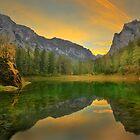 Emerald Lake in Autumn by Delfino