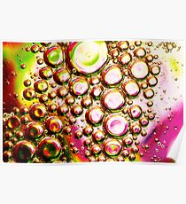 Purple and Green Oil and Water Poster