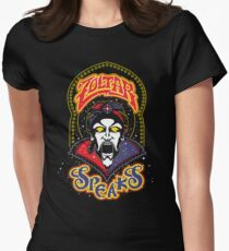 Zoltar Speaks Big - Blue Variant Women's Fitted T-Shirt
