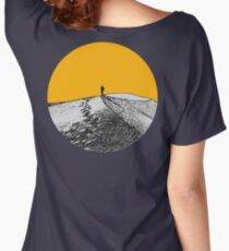 ALONE (GREY/ORANGE) Women's Relaxed Fit T-Shirt