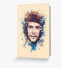 Che Guevara splatter painting Greeting Card