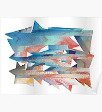 Glitched Triangles by Jessie Poster