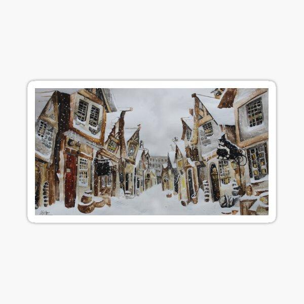 Hogsmeade in the Snow Sticker